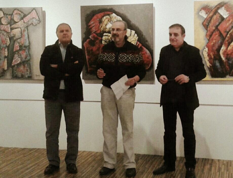 Presentación alcalde de l'Ametlla del Vallés y el pintor Ralph Garmont