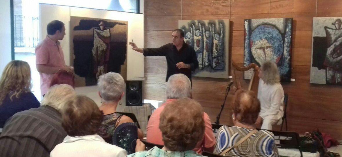 Inauguración pintura en Canet
