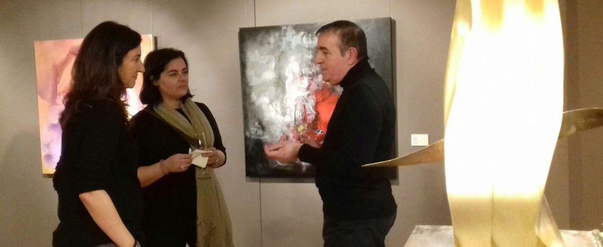 Blanche con la pintora Monica Retche y la escultora Anna Torres
